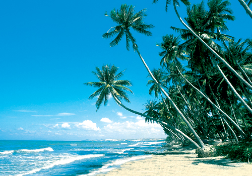 Stranden vid Phan Thiet