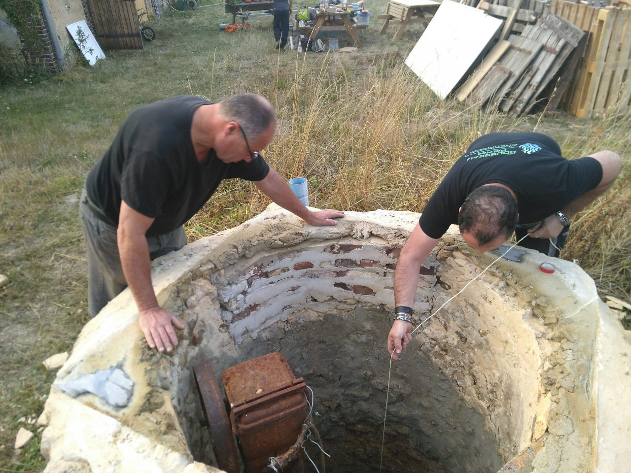 Testing the depth of the well