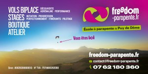 Signature carte de visite Freedom partenaire du gîte la grange des puys à Beaune le chaud