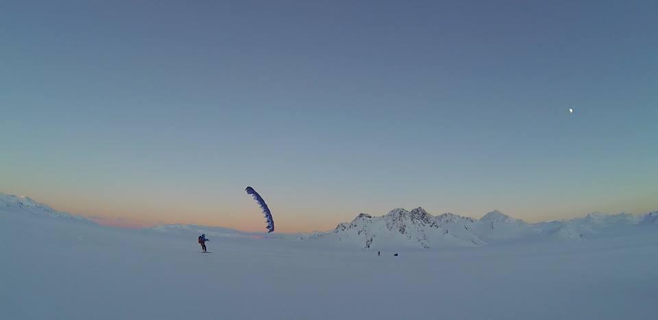 snow kite avec Johanna Marcoz