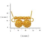 Plain Gold Wati Mani Pendant for Mangalsutra