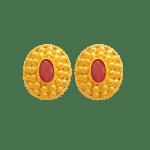 Fancy Earrings with Ruby