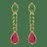 Ruby & Emerald Earrings