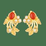 Pearl & Coral Earrings