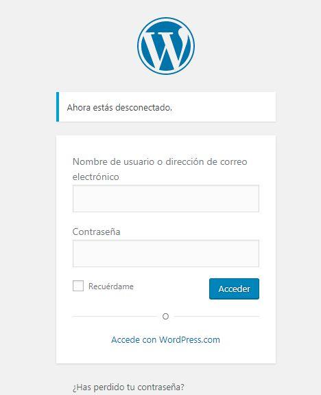 acceso a tu pagina web