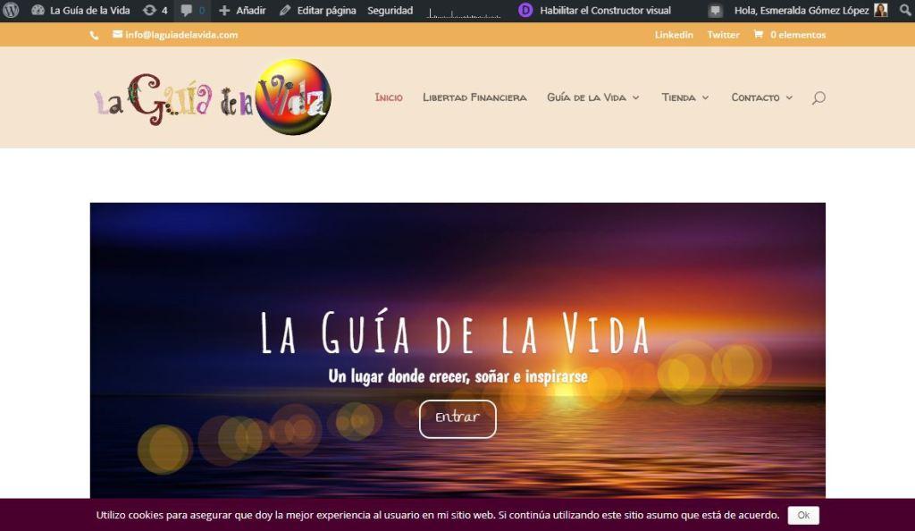 visitar sitio desde WordPress