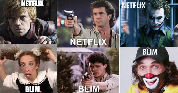 Memes Blim y Netflix