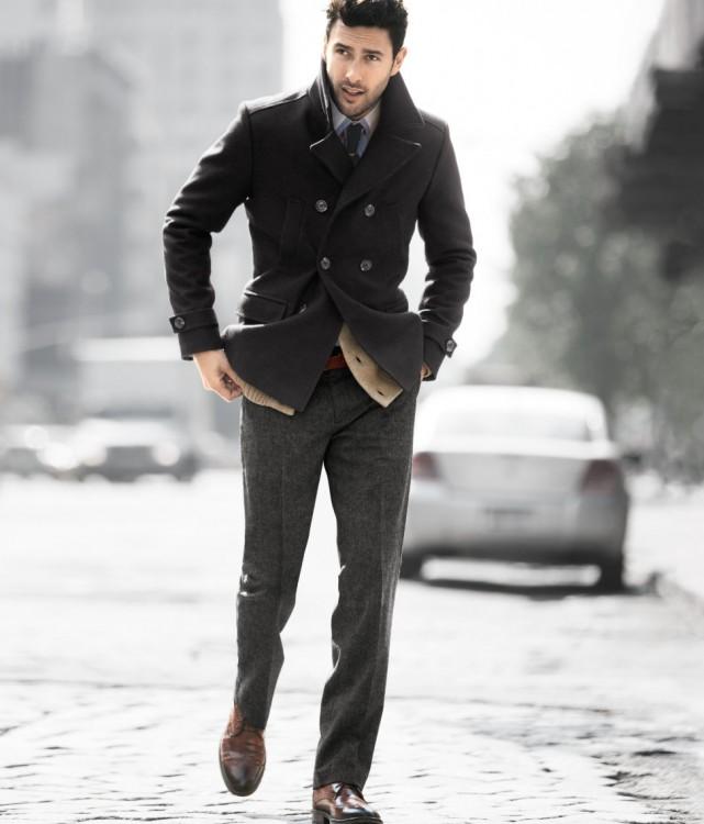 abrigo de hombre ajustado