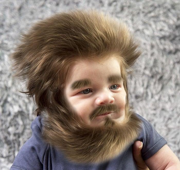 Beb Con Pelo Perfecto Se Vuelve La Batalla De Photoshop