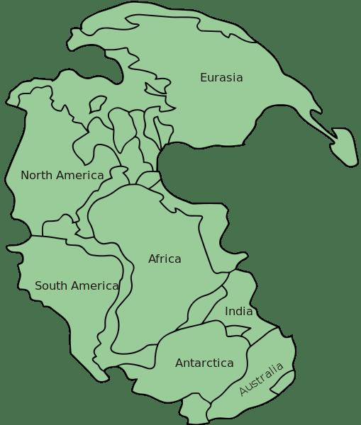 Mapa de Pangea