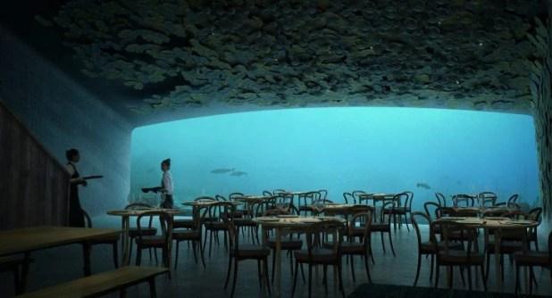 Restaurante bajo del mar