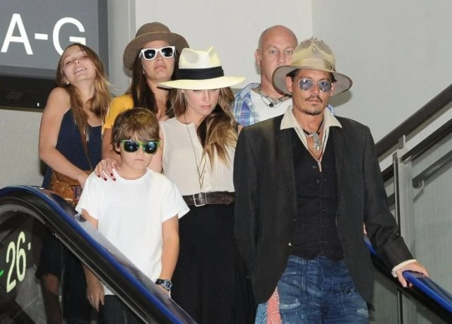 familia de johnny depp
