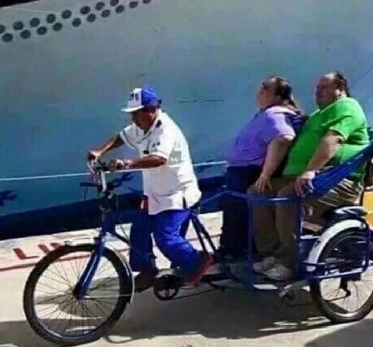 Peor día bicicleta gordos