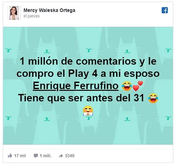 Reto en Facebook