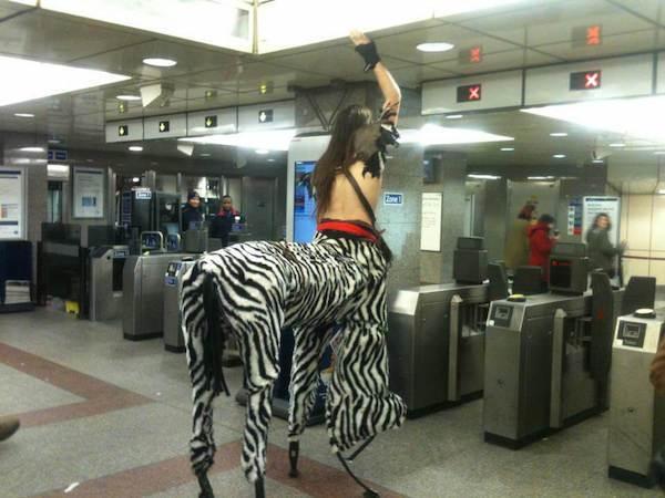 gente extraña metro zebrantauro