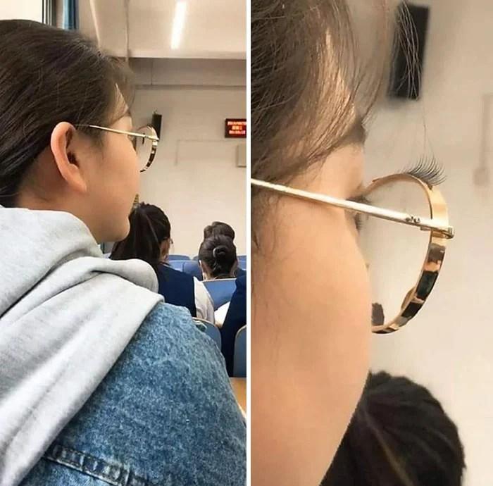 cosas bizarras en China pestañas postizas