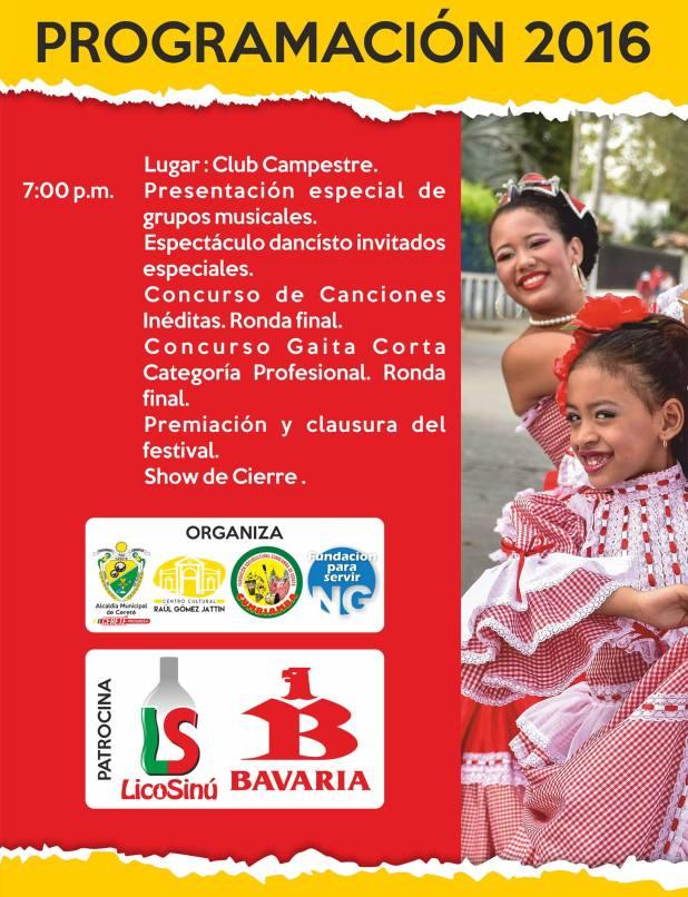 festival de la cumbiamba en cerete cordoba colombia