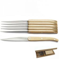 coffret cristal laguiole 6 couteaux manche bois