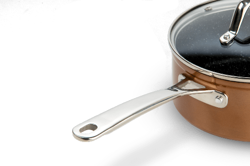 laguiole casserole 18 cm cuivre anti adhesif greblon c2 induction