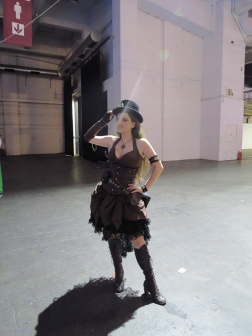 Steam Punk cosplayer