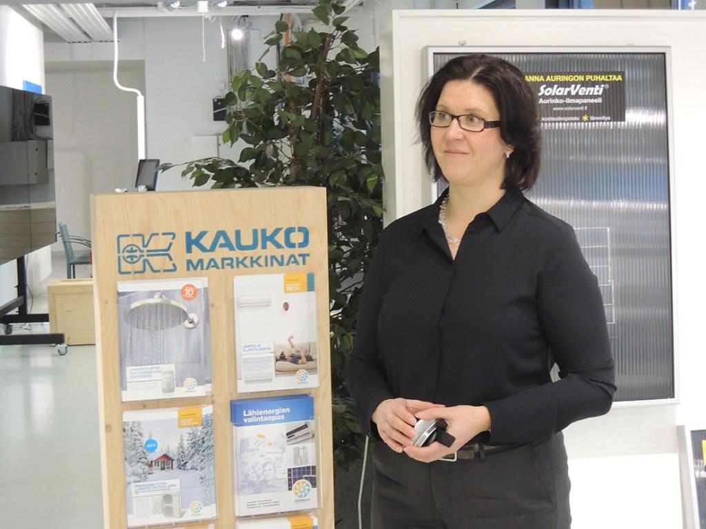 Kaukomarkkinoiden toimialajohtaja Kati Manninen kertoi, että yhtiö panostaa voimakkaasti uusiutuvien energialähteiden markkinoihin.