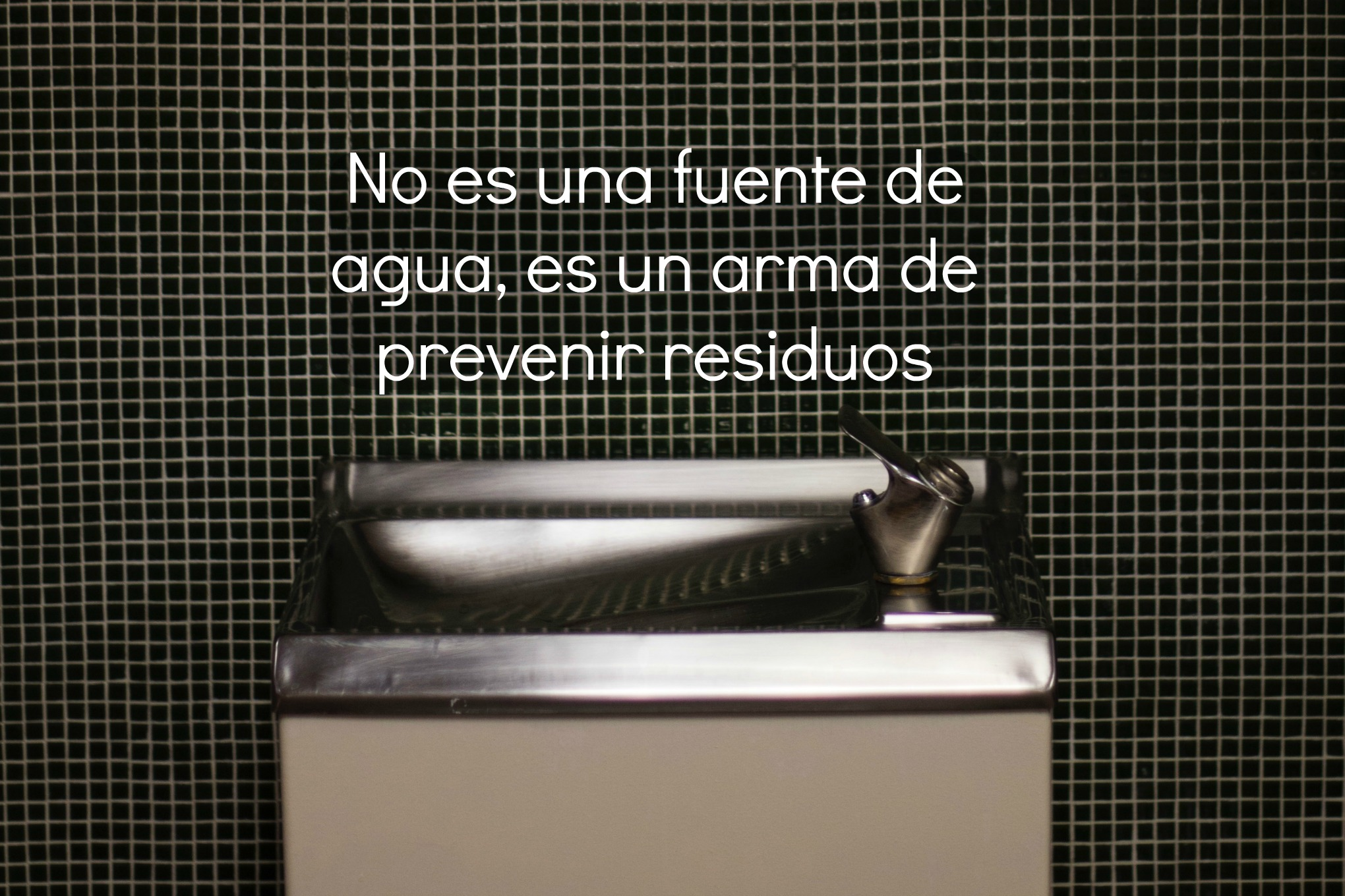 prevenir residuos fuente de agua