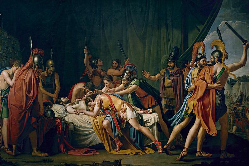 La muerte de Viriato, jefe de los lusitanos (1807) de José de Madrazo