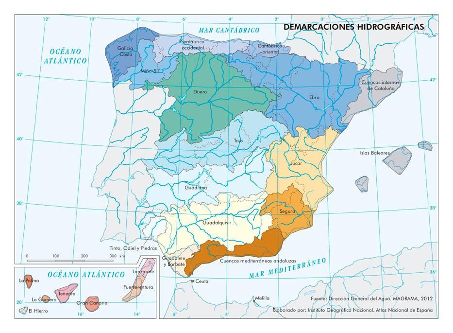 demarcaciones hidrográficas