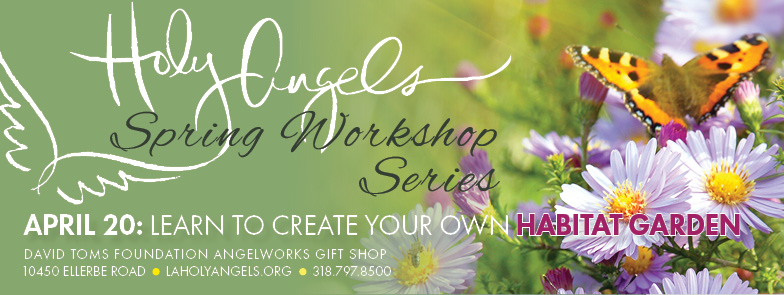 Spring Workshop Series - Creating a Habitat Garden @ David Toms Foundation AngelWorks Gift Shop