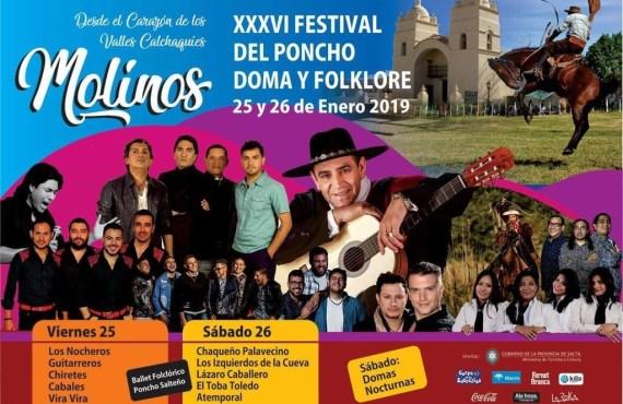 Para el próximo lunes esta prevista la presentación del Festival del Poncho, Doma y Folklore