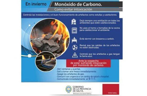 Salud Pública recuerda medidas de prevención para evitar intoxicaciones por monóxido de carbono