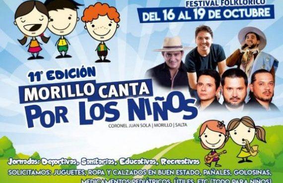 """Mañana se realizará el lanzamiento del festival """"Morillo Canta por los Niños"""""""