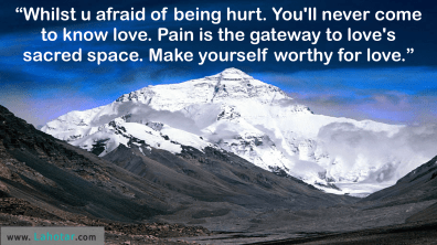 Whilst u afraid of being hurt…