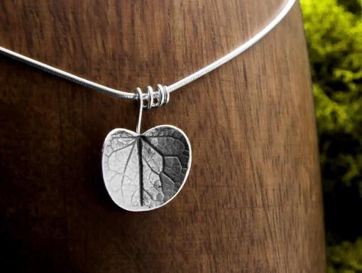 Hoja en plata Árbol del Amor