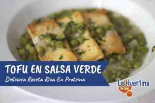 Tofu en Salsa Verde, una deliciosa receta llena de proteínas