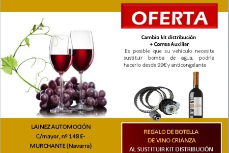 KIT DISTRIBUCIÓN + VINO