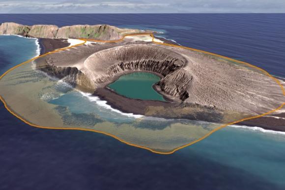 Fotografía de la isla del Pacífico que solo durará 30 años.