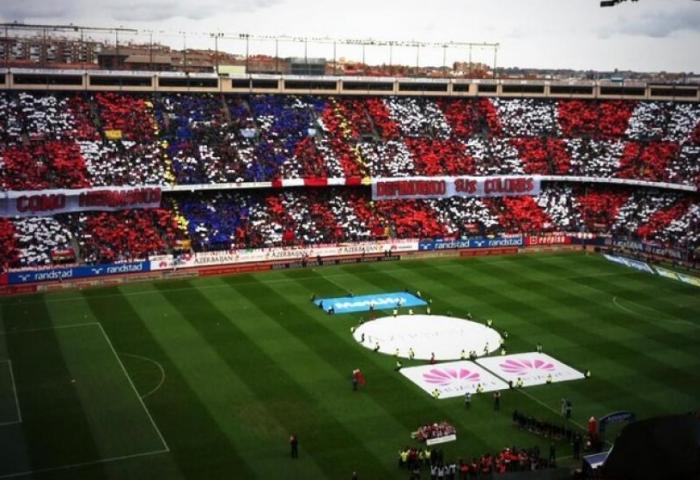 Atlético 2 2 Real Madrid Un Impresionante Tifo Recibió A Los