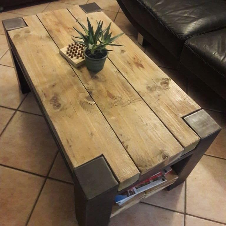 table basse style industriel par