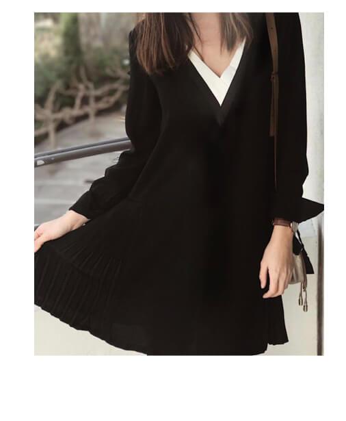robe noire artlove plissée