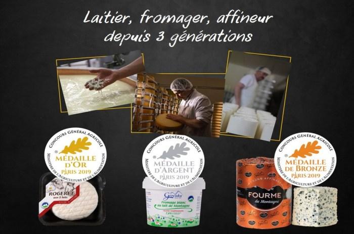 3 fromages médaillés Laiterie Gérentes