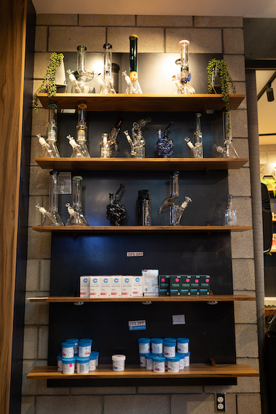 Accessories at a San Diego dispensary