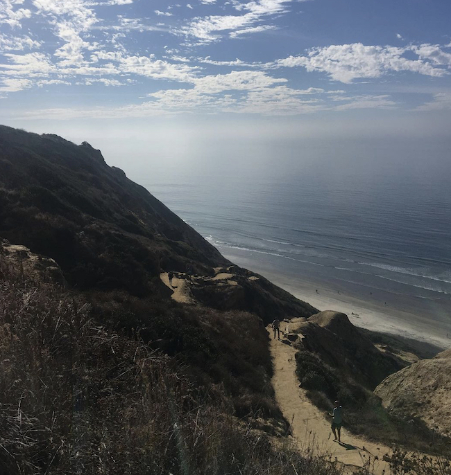 The path to Black's Beach, a nude beach in San Diego