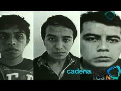 Foto tomada por los policías ministeriales antes de dar a conocer el paradero de los 3 detenidos el 3 de mayo de 2013