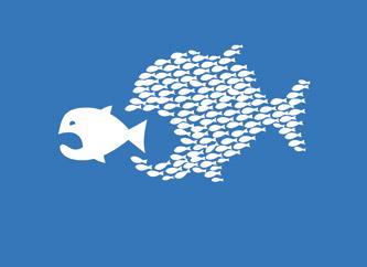 Resultado de imagen para imagenes pez grande come al chico