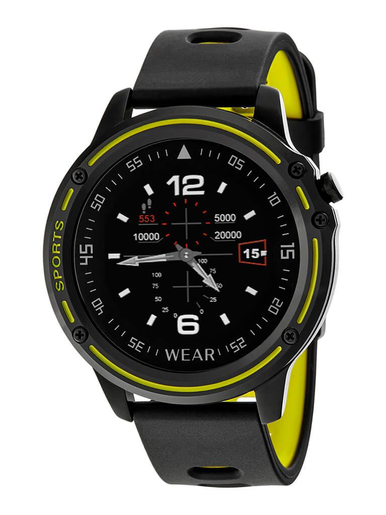 Reloj inteligene marea negro y amarillo