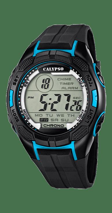 Reloj hombre calypso K5627/2 digital deportivo, ideal para que te acompañe en el día a día. Resistente al agua hasta 100 metros incorpora: alarma, cronografo, hora dual y luz. Un todo terreno que viene de la mano del grupo LOTUS-FESTINA.