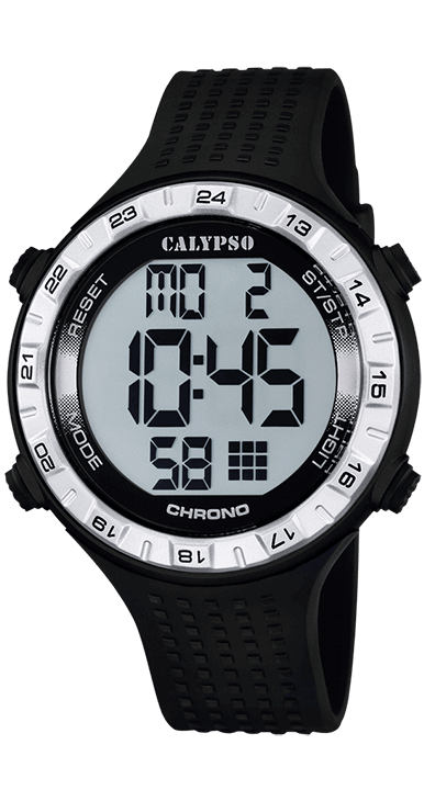 Reloj hombre calypso K5663/1 digital deportivo, ideal para que te acompañe en el día a día. Resistente al agua hasta 100 metros incorpora: alarma, cronografo, hora dual y luz. Un todo terreno que viene de la mano del grupo LOTUS-FESTINA.