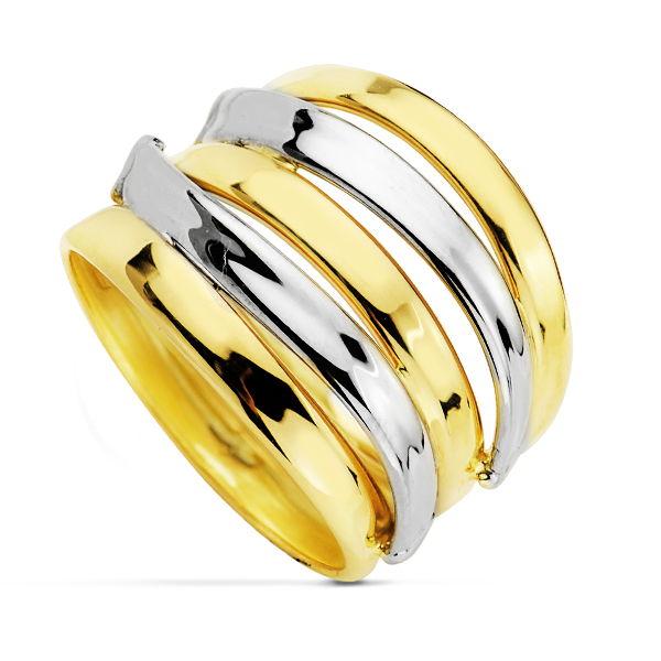 Anillo oro star of light 18 Kte Bicolor SO1/14425. …, siente la magia del oro fusionado con los diseños más urbanos y contemporáneos. Todos nuestro árticulos de joyería vienen debidamente contrastados por los más prestigiosos laboratorios de metales preciosos Españoles.
