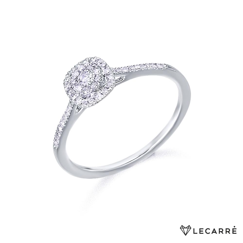 Anillo compromiso diamantes Ga046OB Oro Blanco. La Sortija esta formada por un cuajado de diamantes con un peso total de 0.19 ct de Kilate, color H y talla brillante. Este anillo forma parte de la colección de diamantes de la marca LeCarré. Todos los artículos se entregarán junto a su caja y certificado de garantía oficial.